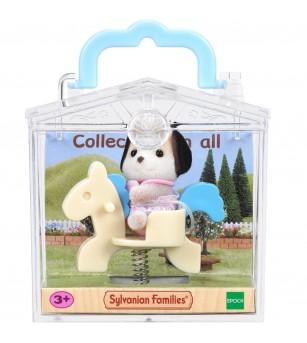 Figurina Sylvanian Families 4391R1 - Catelus pe ponei pe arc - Figurine