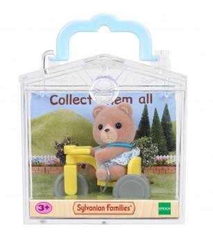 Figurina Sylvanian Families 4391R1 - Ursulet pe tricicleta - Figurine
