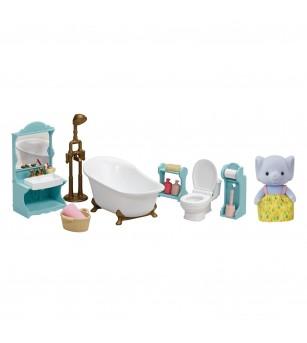 Sylvanian Families 5380 - Set baie cu accesorii si figurina elefant - Figurine