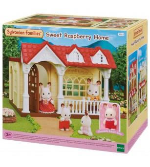 Sylvanian Families 5393 - Casuta Sweet Raspberry si figurina iepuras - Figurine
