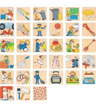 Joc de memorie Goki - Meserii - Jocuri de memorie și asociere