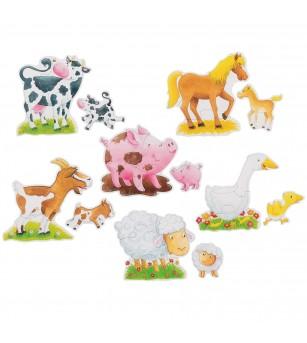 Set puzzle Goki - Animale la ferma - Puzzle-uri