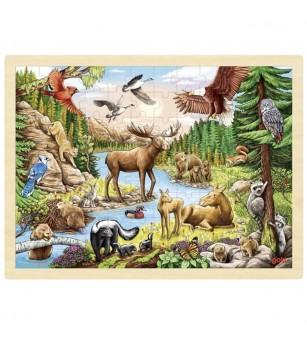 Puzzle lemn Goki - Salbaticia nord-americana - Puzzle-uri