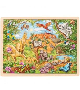 Puzzle lemn Goki - Animale australiene - Puzzle-uri