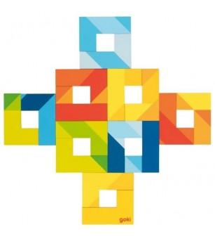 Puzzle lemn Goki - piese in forma de L - Puzzle-uri