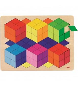 Puzzle lemn Goki - efect 3D - Puzzle-uri