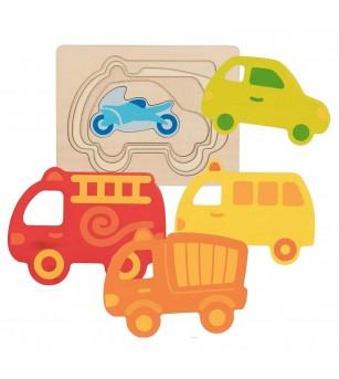 Puzzle straturi Goki - Vehicule - Puzzle-uri