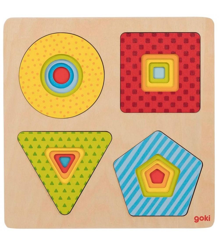 Puzzle straturi Goki - forme geometrice multicolore - Puzzle-uri