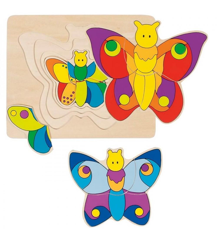 Puzzle straturi Goki - Fluturi - Puzzle-uri