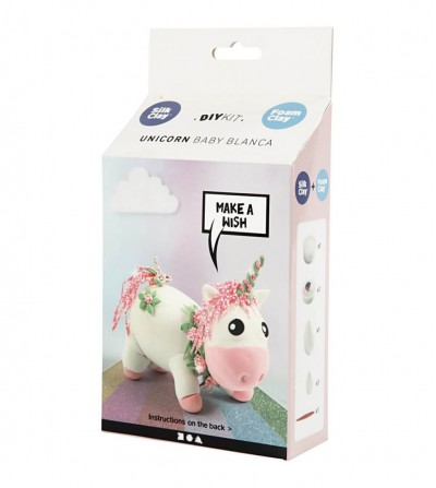 Kit unicorn Baby Blanca - din plastilina Foam Clay si Silk Clay - Crafturi