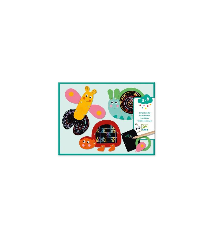 Set creativ de razuit Djeco, Animale amuzante - Lucru manual