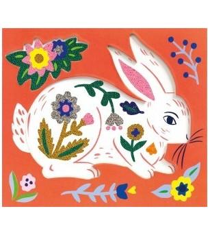 Set creativ cu margele Djeco, Animale si flori - Lucru manual