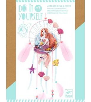 Set DIY Djeco, Dreamcatcher sirena - Lucru manual