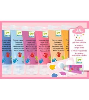 6 culori Sweet de pictat cu mana Djeco - Desen și pictură