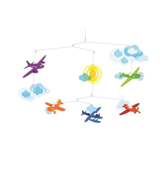 Decoratii mobile camera copilului avioane, Djeco - Decorațiuni camera copilului