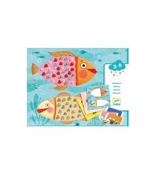 Atelier creativ Djeco, Mozaic cu plastilina si margele - Acasa