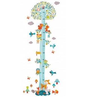 Abtibilduri masuratoare pentru copii Djeco, Veverite in copac - Decorațiuni