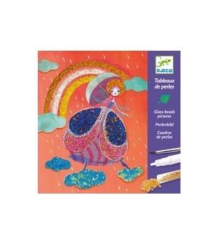 Atelier creativ cu margele Djeco, Wonderland- taramul zanelor - Lucru manual
