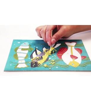 Atelier creativ cu margele Djeco, Zoology - Lucru manual