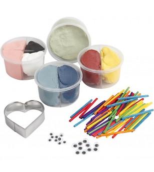 Kit DIY papusi pentru deget din plastilina Silk Clay si Foam Clay - insecte - Crafturi