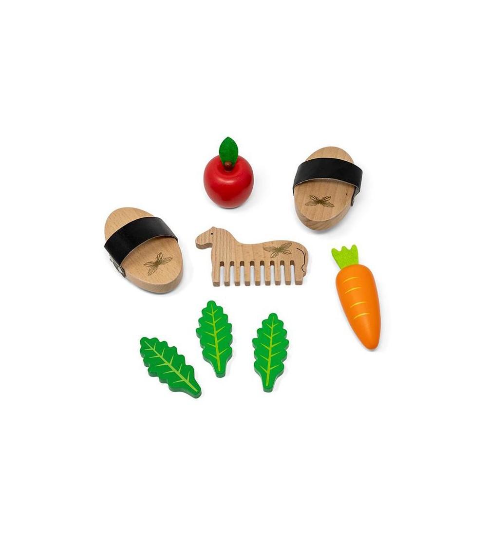 Set jucarii din lemn, ingrijire caluti, 8 piese, byAstrup - Acasa