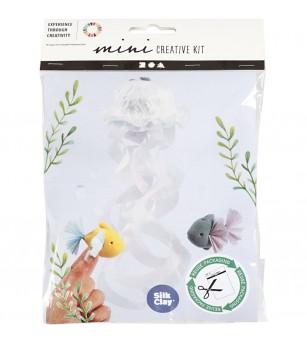 Mini kit creativ din plastilina Silk Clay - Meduze si pesti - Crafturi