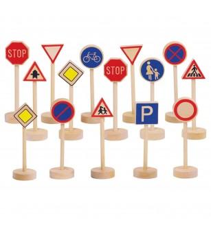 Semne de circulatie din lemn, Goki - Vehicule de jucărie