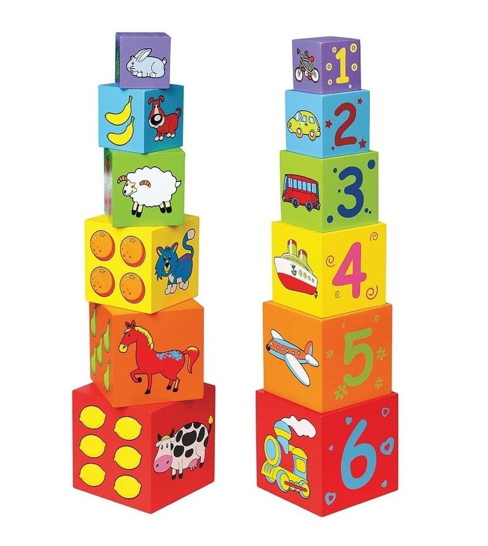 Cuburi de lemn - Jucării de lemn si Montessori