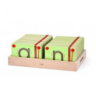 Set magnetic de scriere - Litere mici, Viga - Jucării de lemn si Montessori