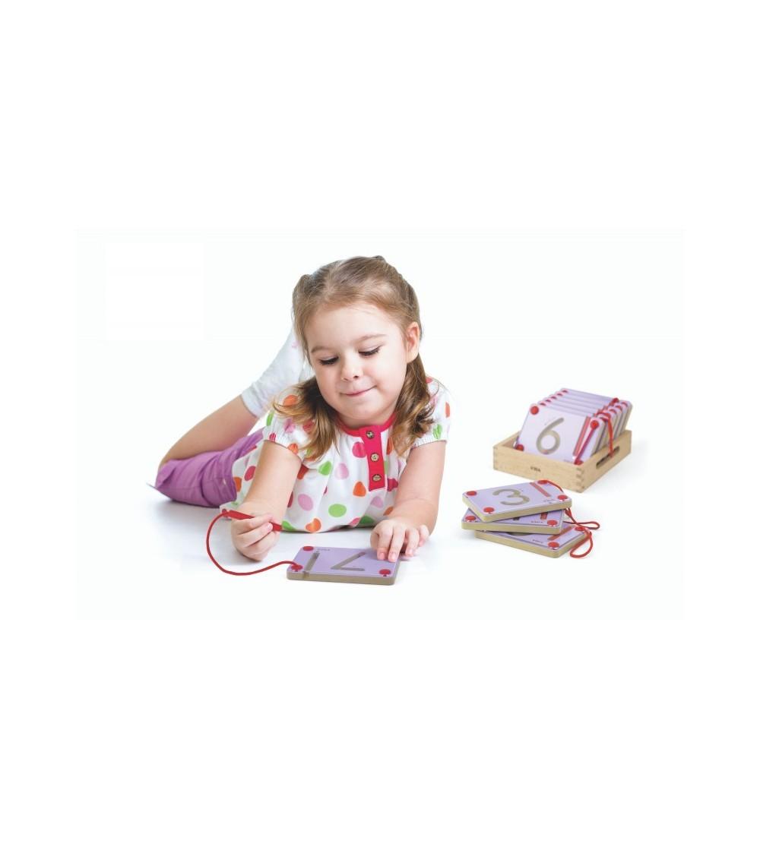 Set magnetic de scriere - Cifre, Viga - Jucării de lemn si Montessori