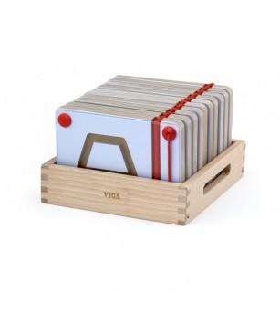 Set magnetic de scriere - Forme geometrice, Viga - Jucării de lemn si Montessori
