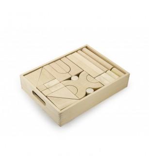 Set blocuri arhitecturale de construit, natur - 48 buc, Viga - Jocuri construcție