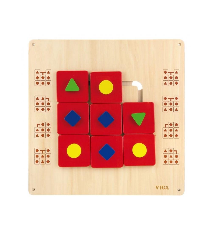 Jucarie de perete - Labirint cu forme geometrice, Viga - Jucării de lemn si Montessori