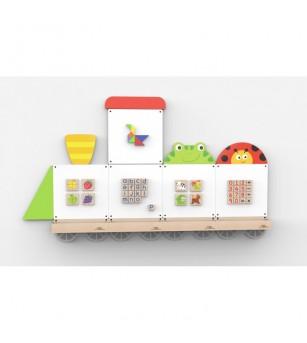 Set table de scris magnetice - Trenulet cu doua vagoane, Viga - Jucării de lemn si Montessori