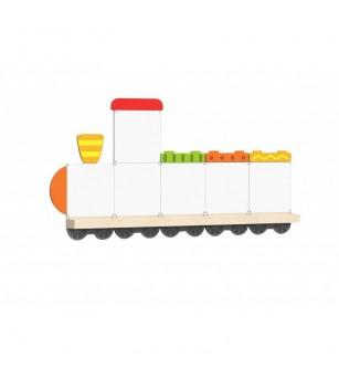 Set table de scris magnetice - Trenulet cu trei vagoane, Viga - Jucării de lemn si Montessori