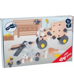 Set de constructie din lemn, Legler Small Foot - Jocuri construcție