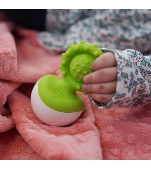 Jucarie senzoriala Dimpl Wobbl Fat Brain Toys - Verde - Jucării bebeluși