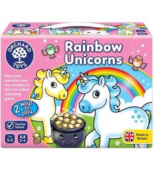 Joc educativ Orchard Toys - Unicornii Curcubeu - Jocuri de memorie și asociere