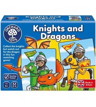 Joc educativ Orchard Toys - puzzle Cavaleri si Dragoni - Puzzle-uri