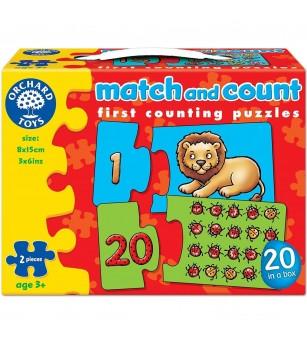 Puzzle Orchard Toys - Potriveste si numara de la 1 la 20 - Puzzle-uri