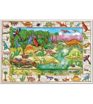 Puzzle in limba engleza Orchard Toys - Lumea dinozaurilor - Puzzle-uri