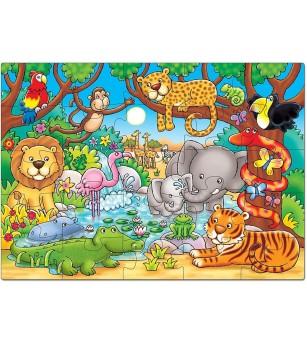 Puzzle cu activitati Orchard Toys - Cine este in jungla? - Puzzle-uri