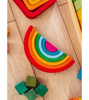 Curcubeu mediu, jucarie handmade - Jucării de lemn si Montessori