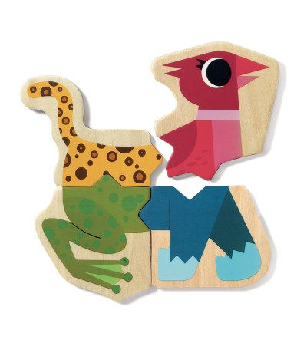 Puzzle cu magneti Djeco Mixanimo - Puzzle-uri
