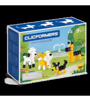 Set de construit Clicformers- Catei prietenosi, 123 piese - Jocuri construcție