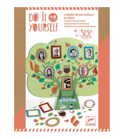 Set DIY Djeco, Arborele genealogic - Lucru manual
