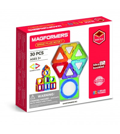 Set magnetic de construit - Magformers Basic Plus 30 set - Jucarii magnetice