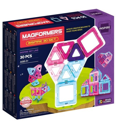 Set magnetic de construit - Magformers Inspire, 30 piese - Jucarii magnetice