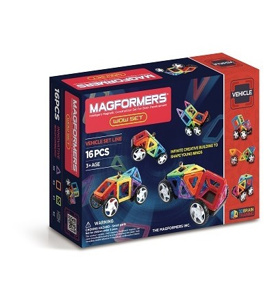 Set magnetic de construit - Magformers Wow 16 piese - Jucarii magnetice