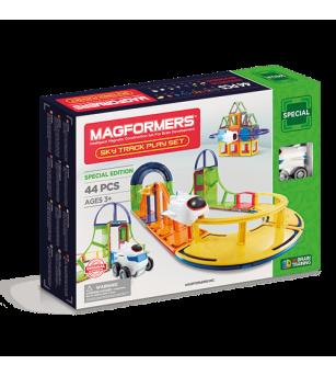 Set magnetic de construit - Magformers, Sky track play set - Jucarii magnetice